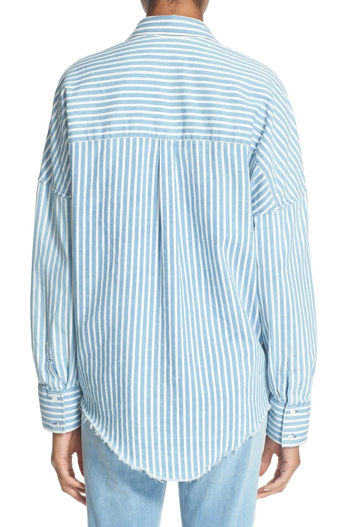 Alternate Image 2  - IRO 'Mia' Stripe Cotton & Modal Shirt
