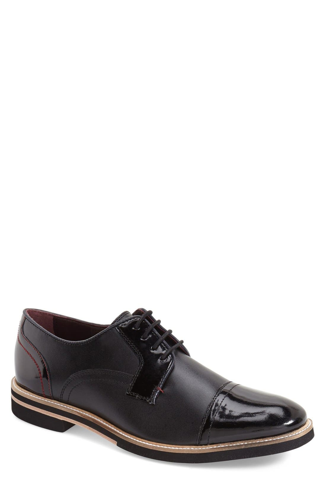 Alternate Image 1 Selected - Ted Baker London 'Braythe 2' Cap Toe Derby (Men)