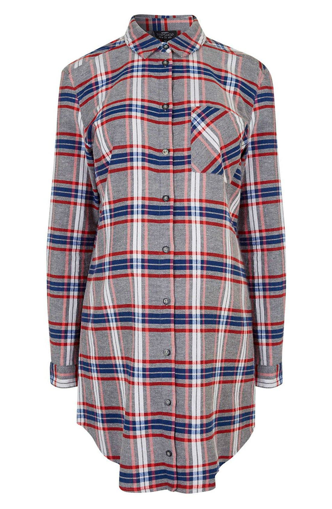 Alternate Image 4  - Topshop 'Boxing Day' Check Plaid Maternity Shirt