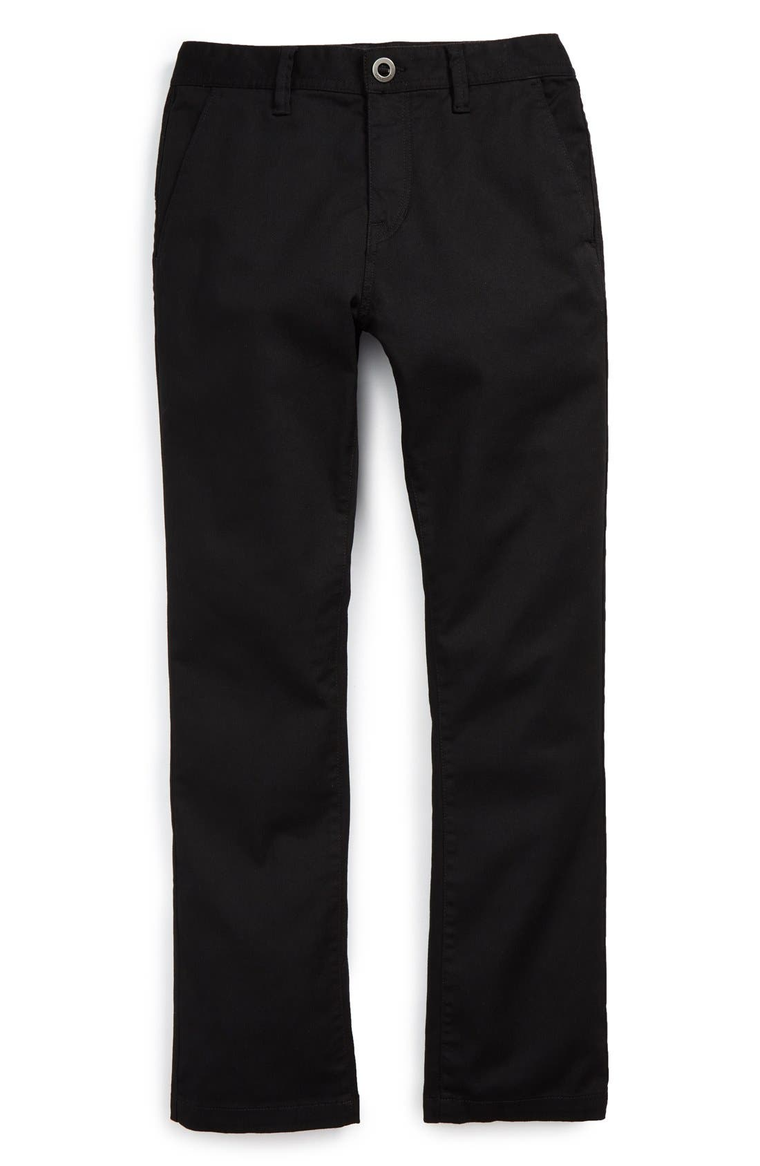 Modern Stretch Chinos,                             Main thumbnail 1, color,                             Black