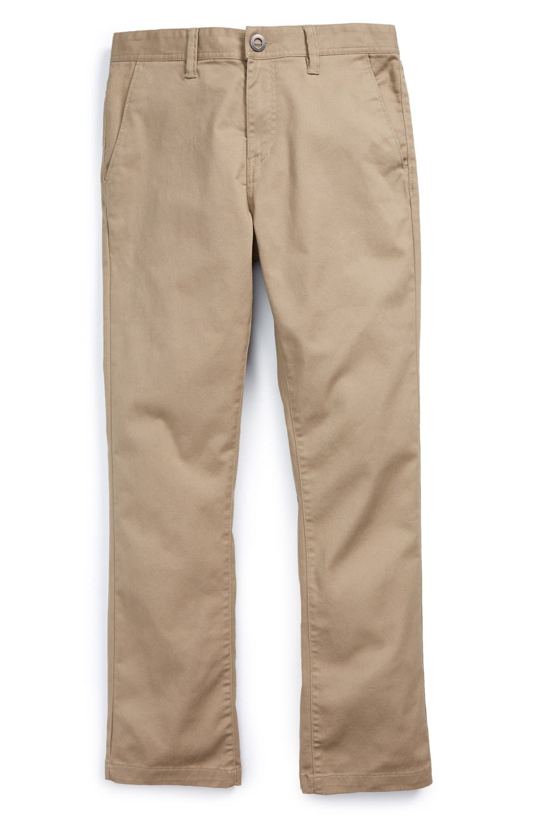Modern Stretch Chinos,                             Main thumbnail 1, color,                             Khaki