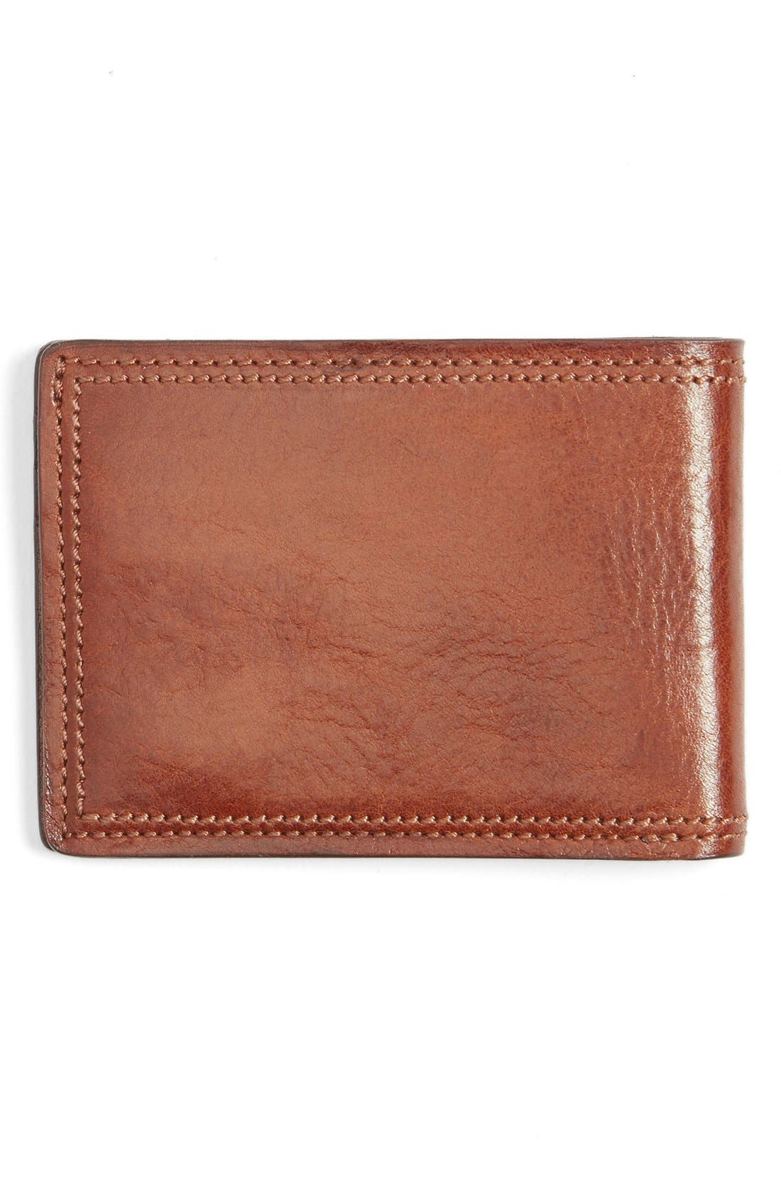 Leather Bifold Wallet,                             Alternate thumbnail 3, color,                             Amber