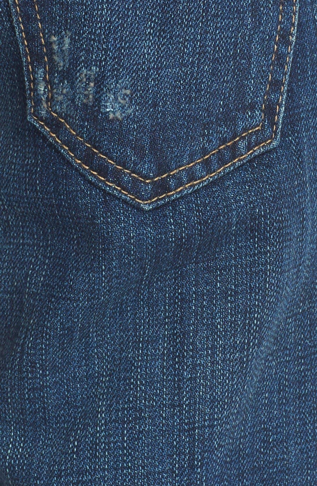 Alternate Image 5  - Current/Elliott 'The Fling' Boyfriend Jeans (Loved Destroy)
