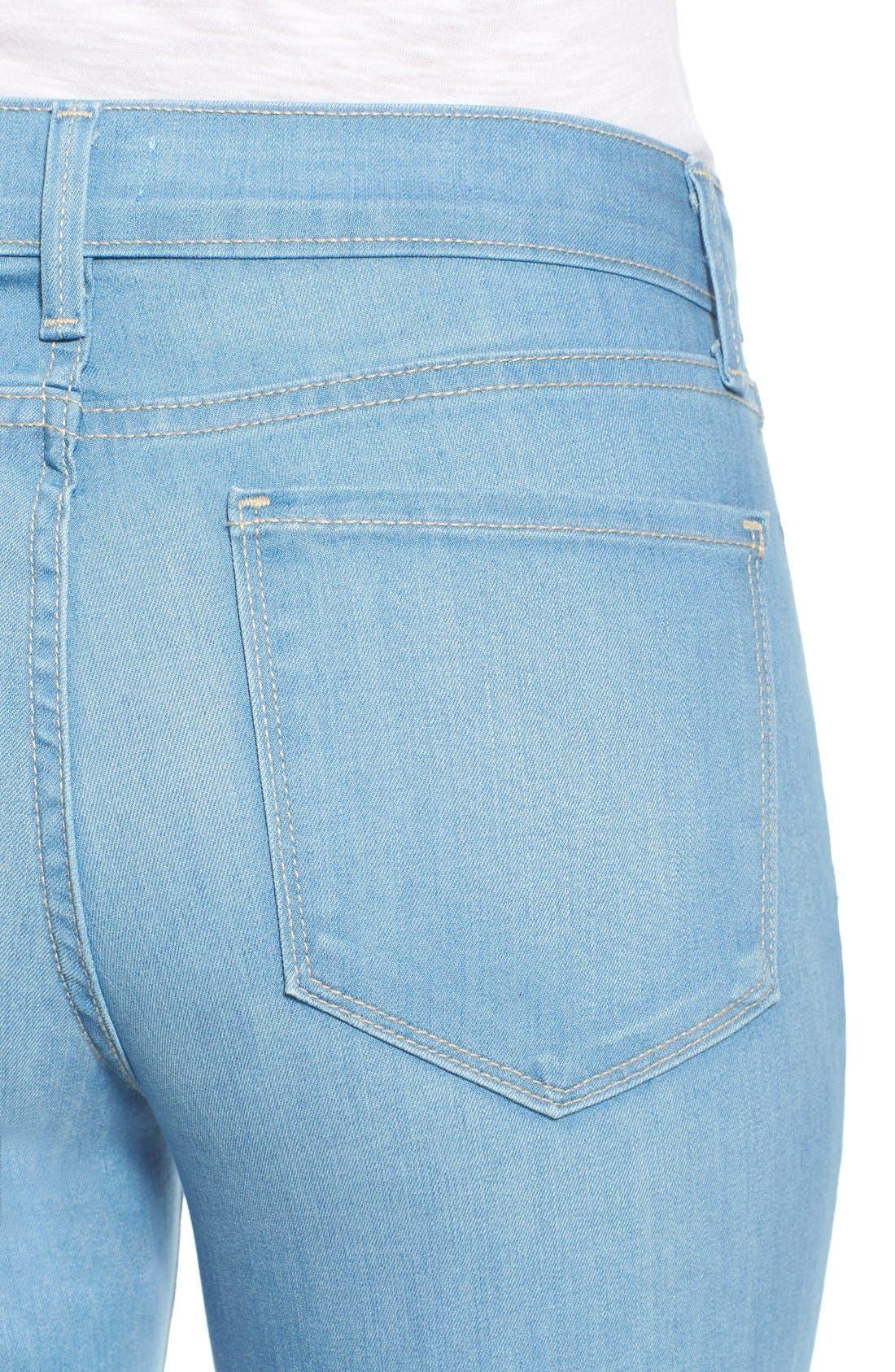 Alternate Image 4  - NYDJ 'Sophia' Stretch Ankle Flare Leg Jeans (Palm Bay)