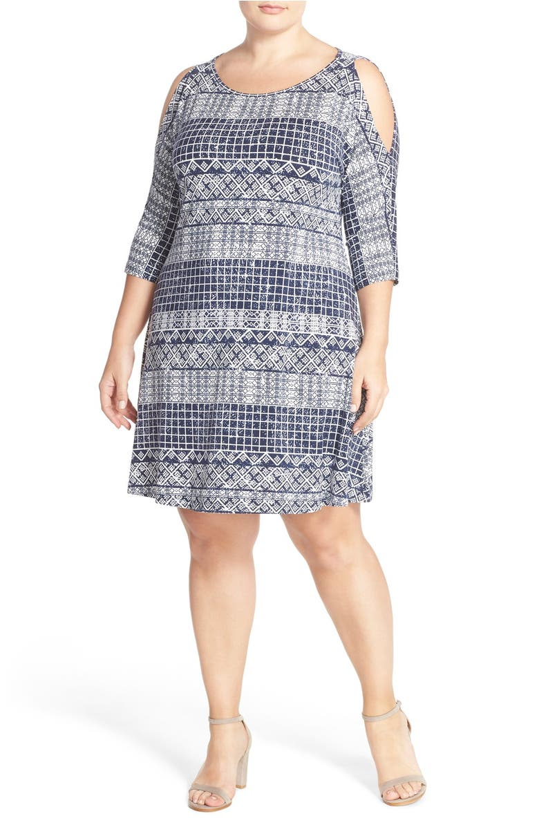 Tart 'NAYA' COLD SHOULDER A-LINE DRESS