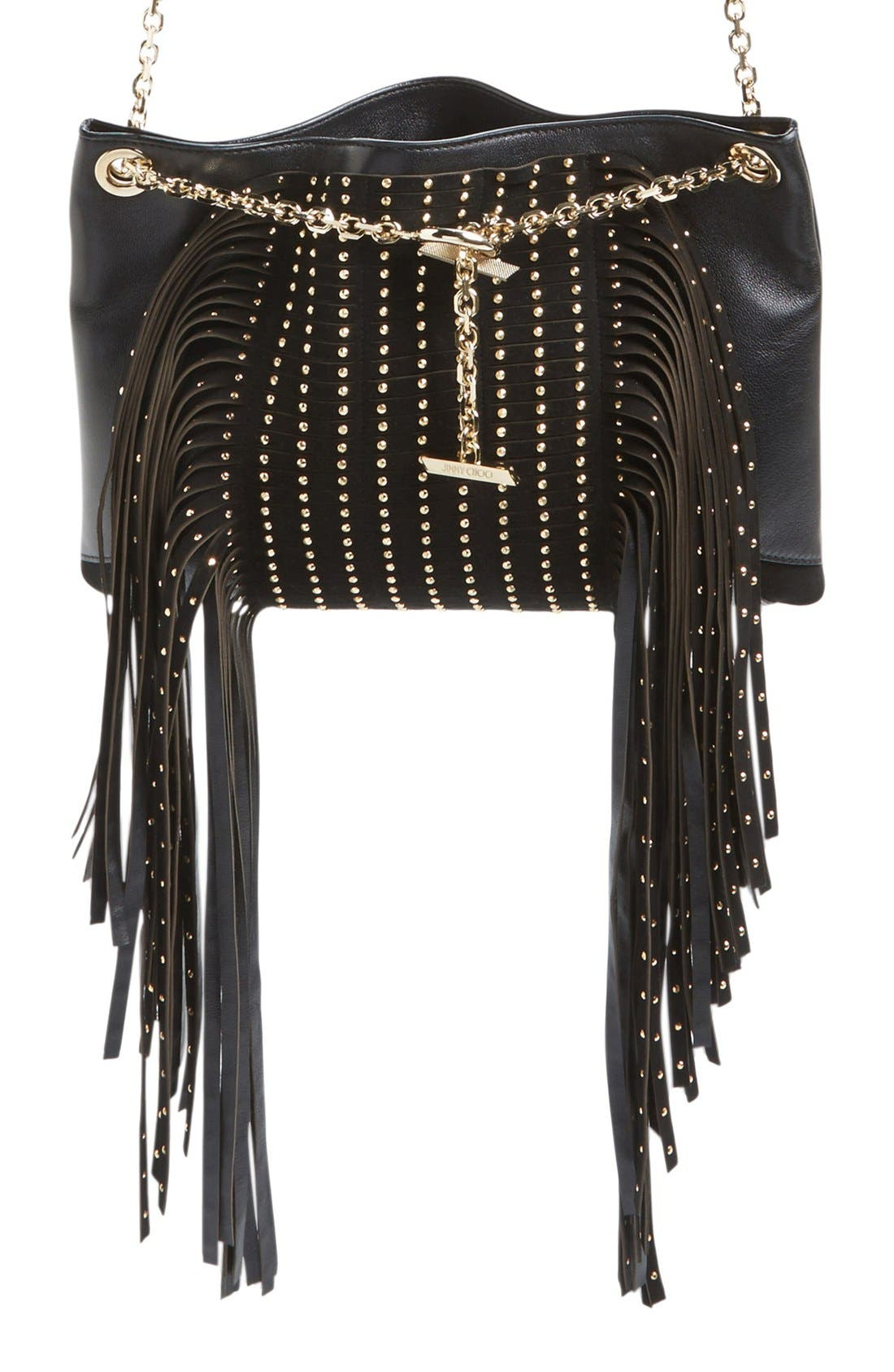 Alternate Image 1 Selected - Jimmy Choo 'Alexia' Fringe Crossbody Bag