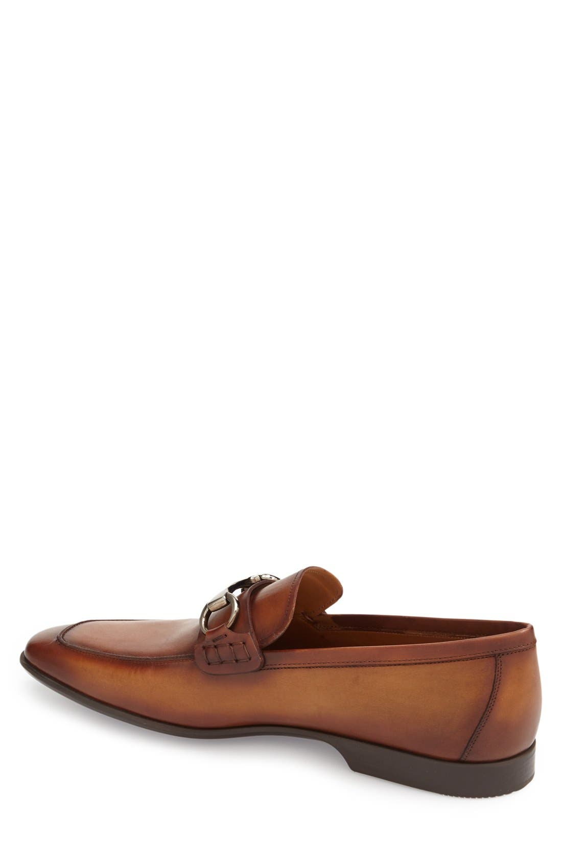'Rafa II' Bit Loafer,                             Alternate thumbnail 2, color,                             Cognac Leather