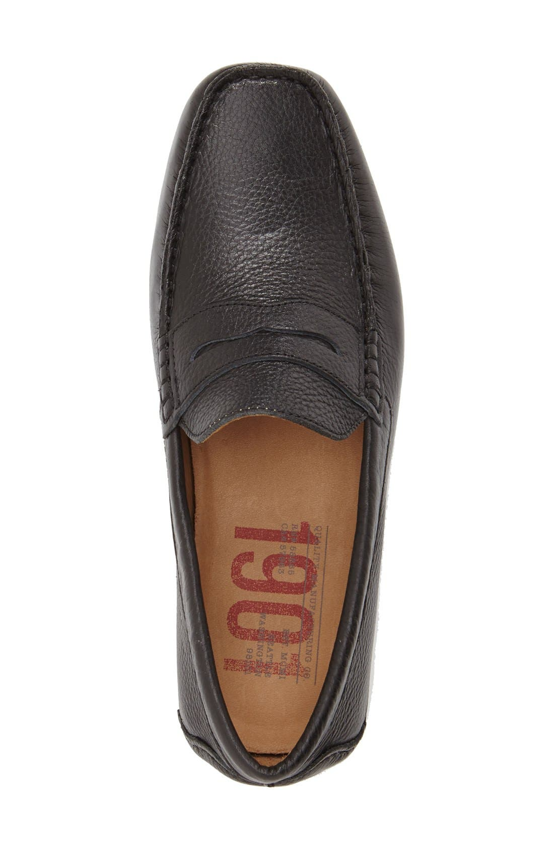 'Bermuda' Penny Loafer,                             Alternate thumbnail 3, color,                             Black Leather