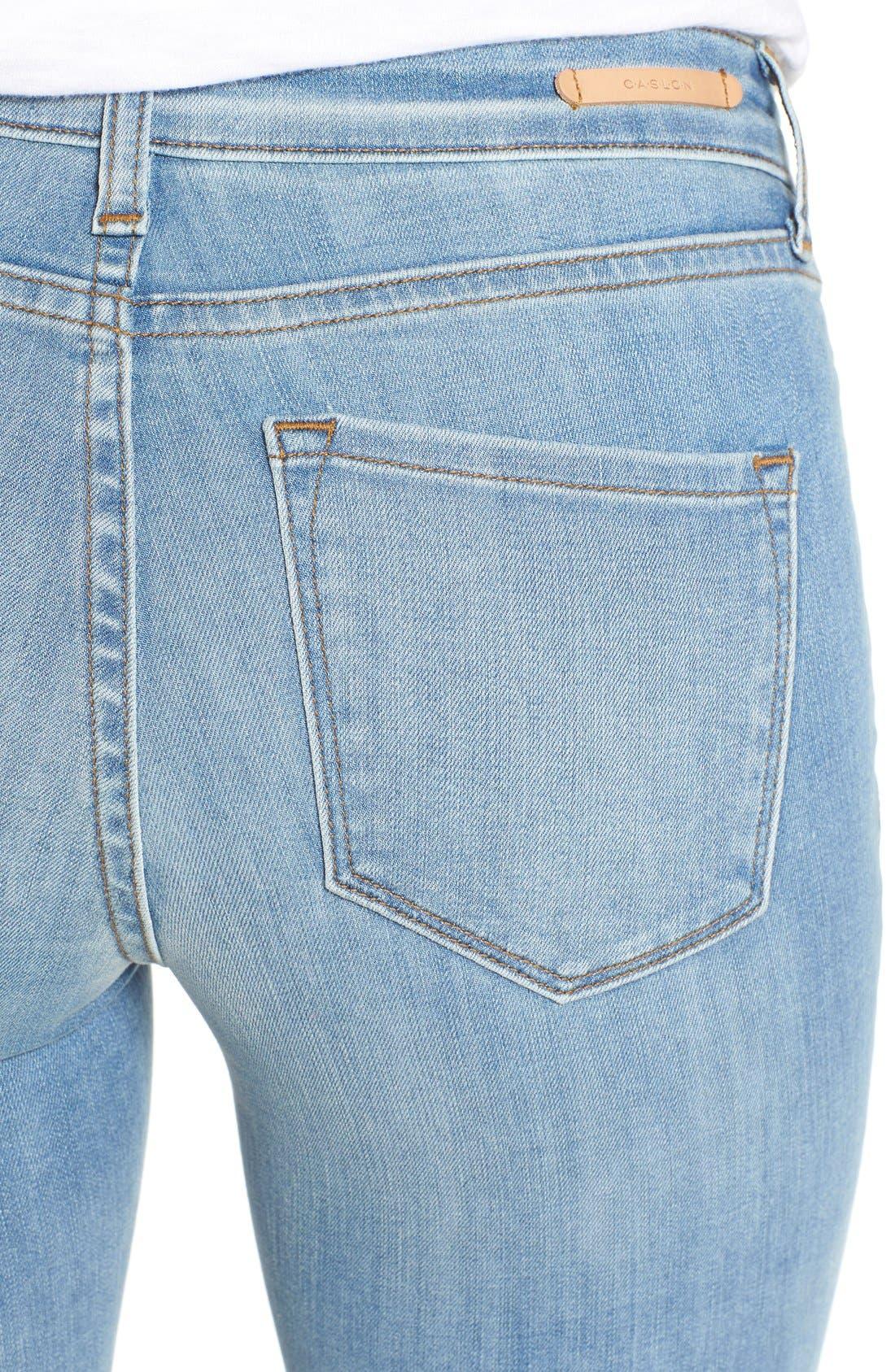 Alternate Image 4  - Mavi Jeans 'Adriana' Distressed Stretch Skinny Ankle Jeans