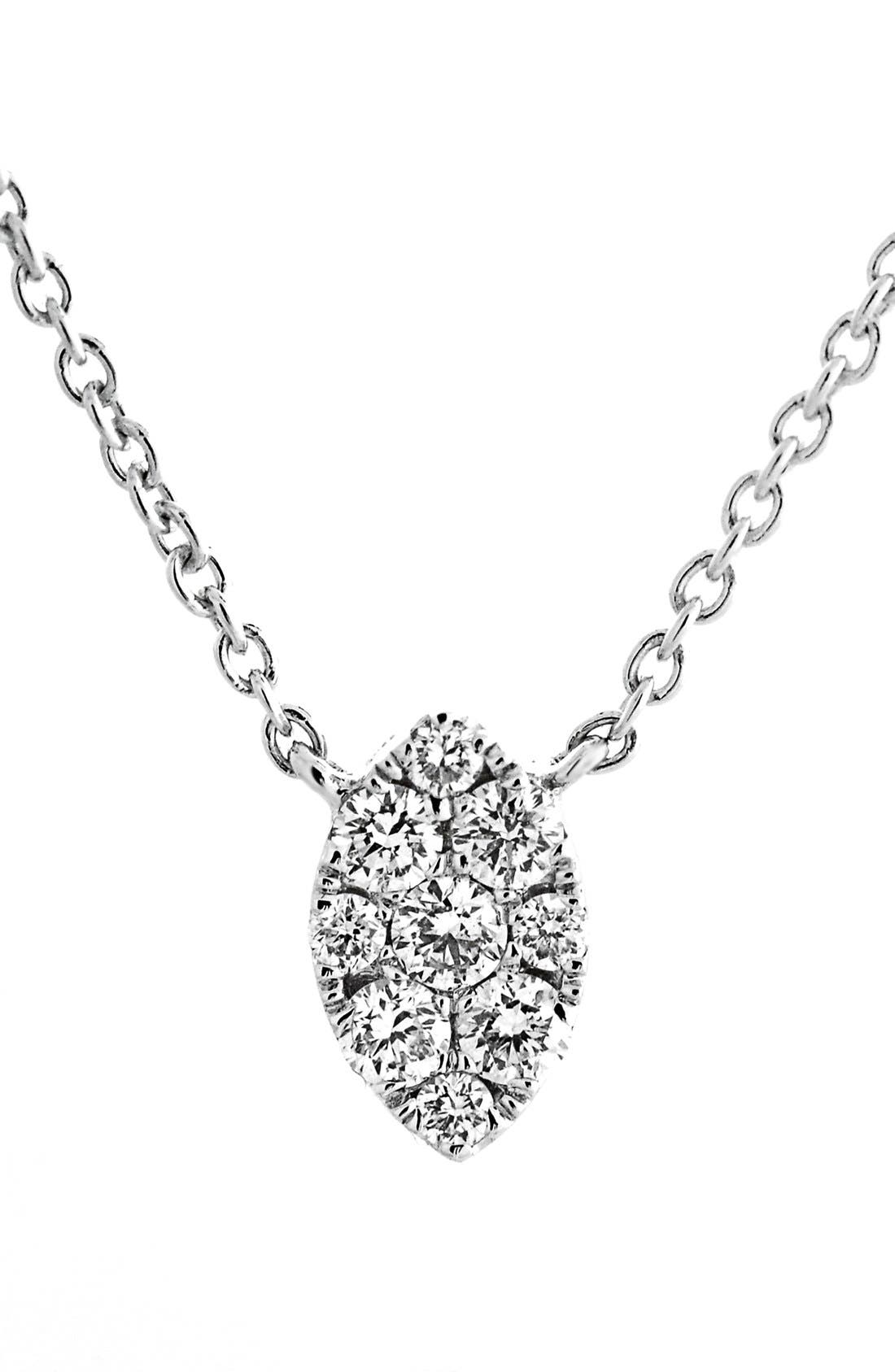BONY LEVY Mini Marquise Pavé Diamond Pendant Necklace