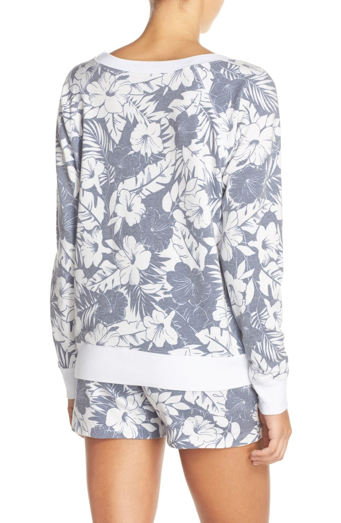 Alternate Image 2  - Love+Grace Floral Print French Terry Sweatshirt