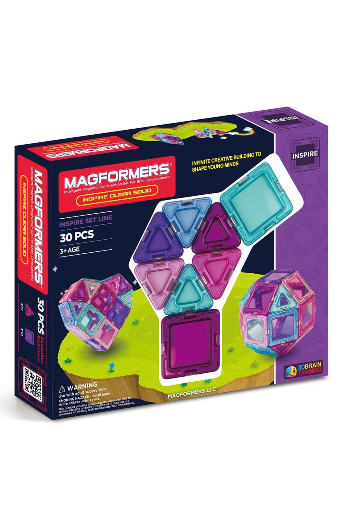 Alternate Image 1 Selected - Magformers 'Inspire - Solids' Clear Magnetic 3D Construction Set