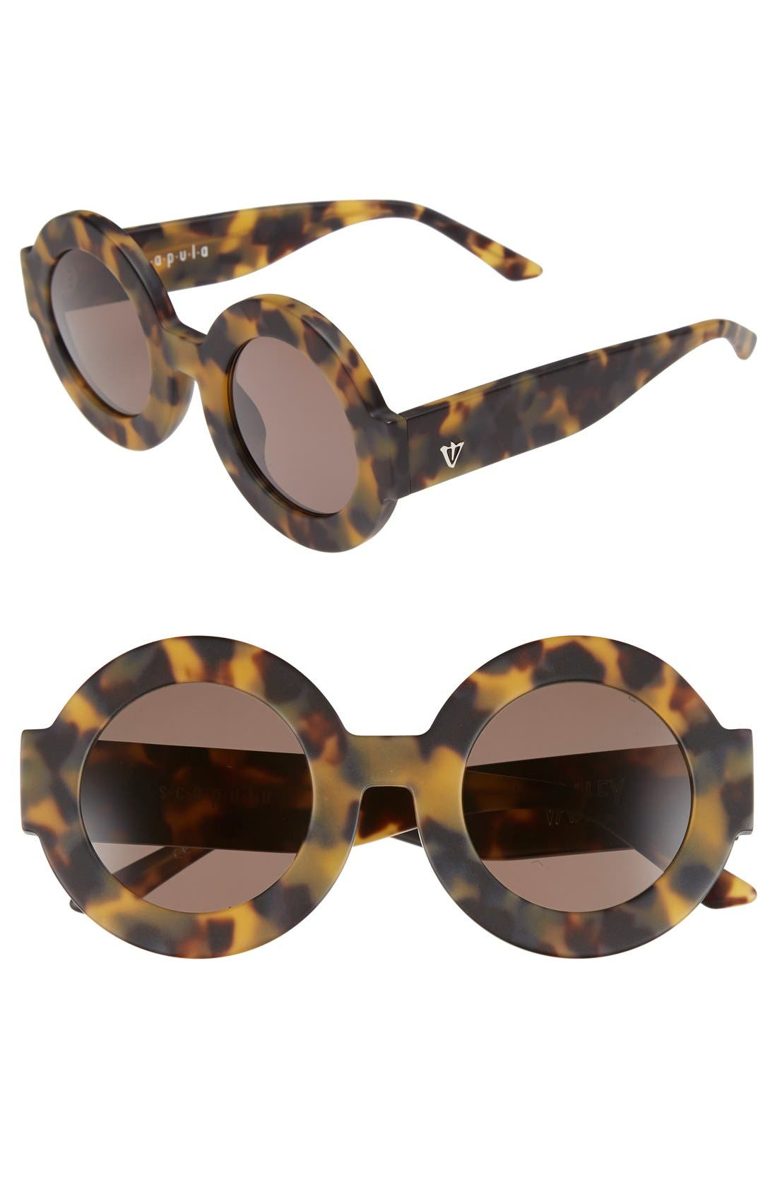 Main Image - VALLEY 'Scapula' 45mm Round Sunglasses
