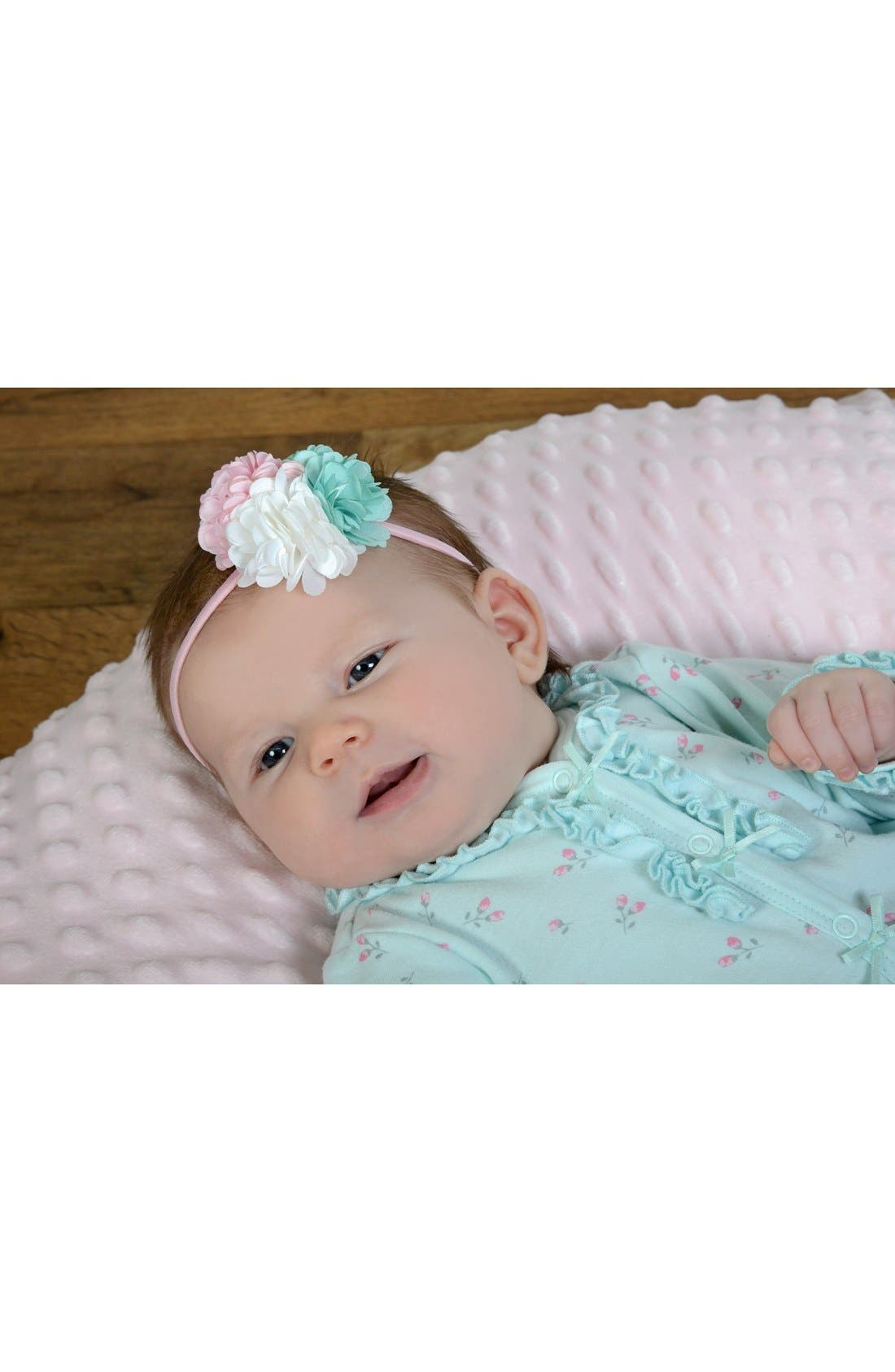 Alternate Image 2  - PLH Bows & Laces Floral Headband (Baby Girls)