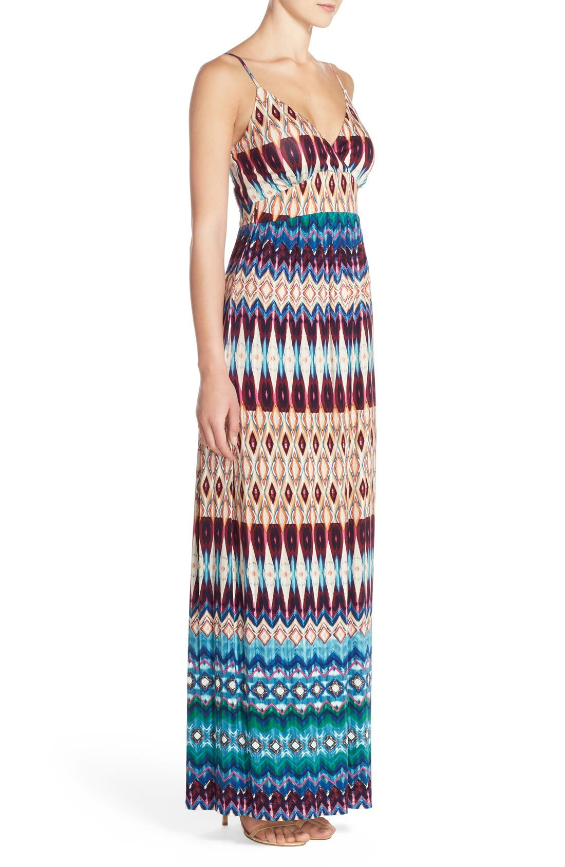 Alternate Image 4  - Felicity & Coco Floral Print Jersey Maxi Dress (Regular & Petite) (Nordstrom Exclusive)