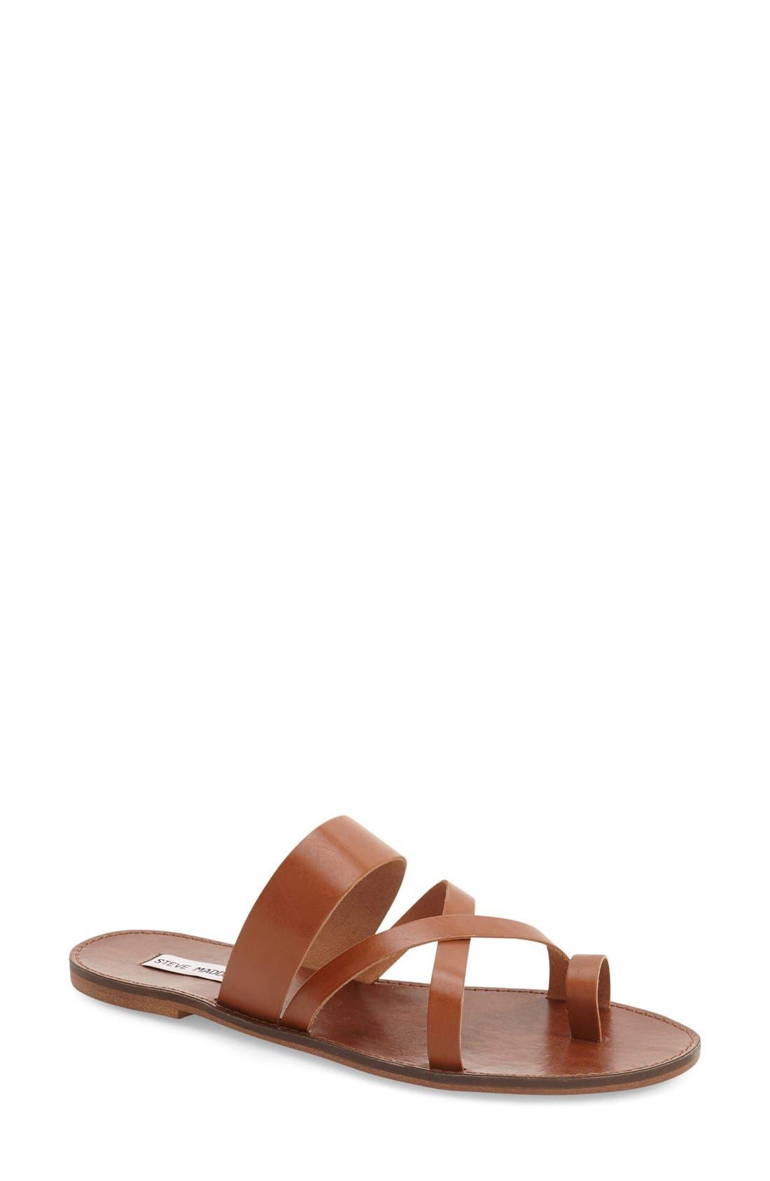 'Ambler' Sandal,                             Main thumbnail 1, color,                             Tan Leather