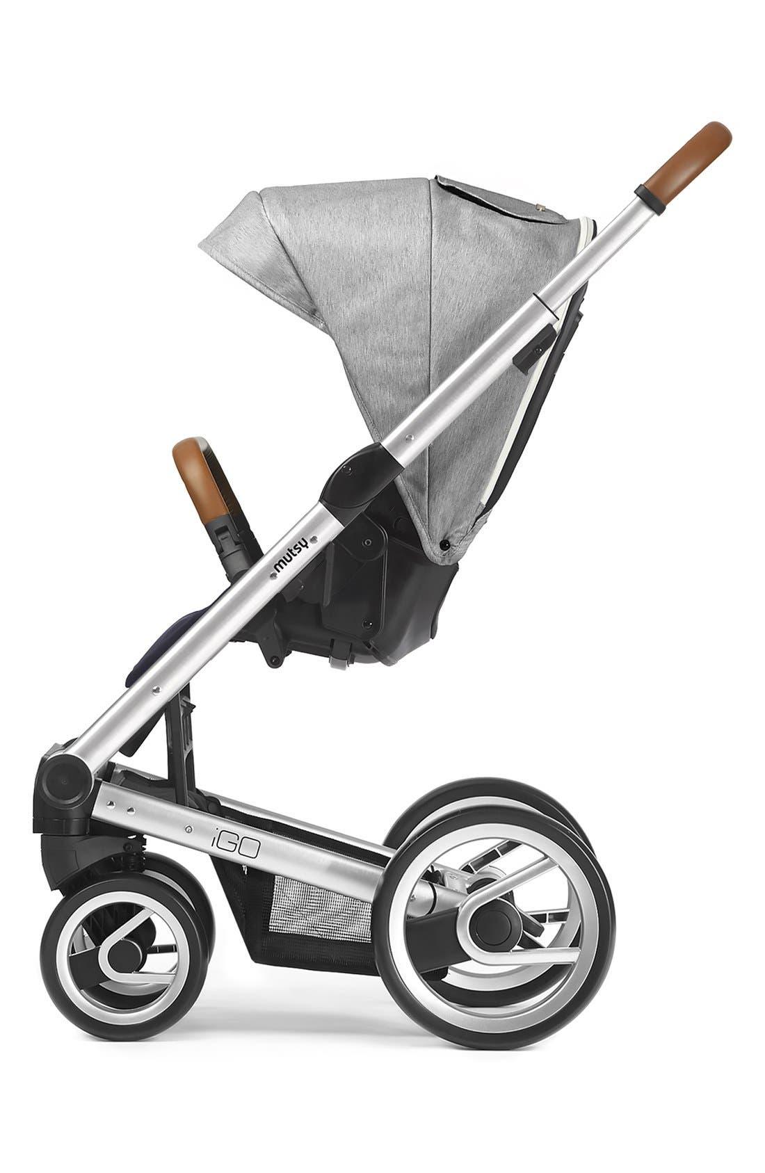 'Igo - Pure Fog' Stroller,                             Alternate thumbnail 2, color,                             Grey/ Silver