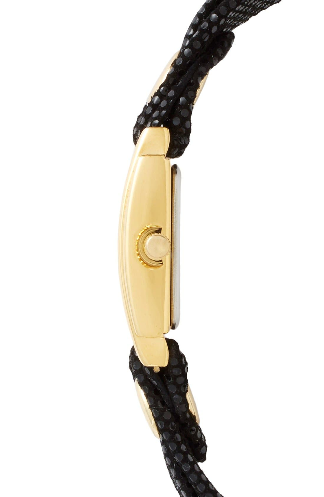 Alternate Image 3  - La Mer Collections Leather Strap Wrap Watch, 28mm