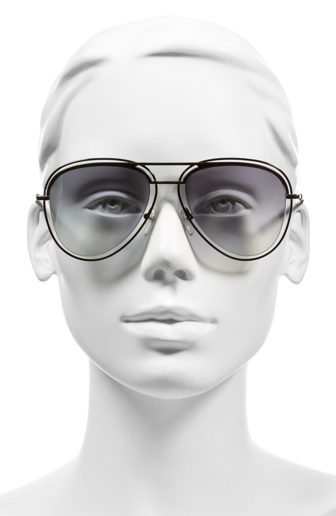 Alternate Image 2  - MARC JACOBS 54mm Aviator Sunglasses