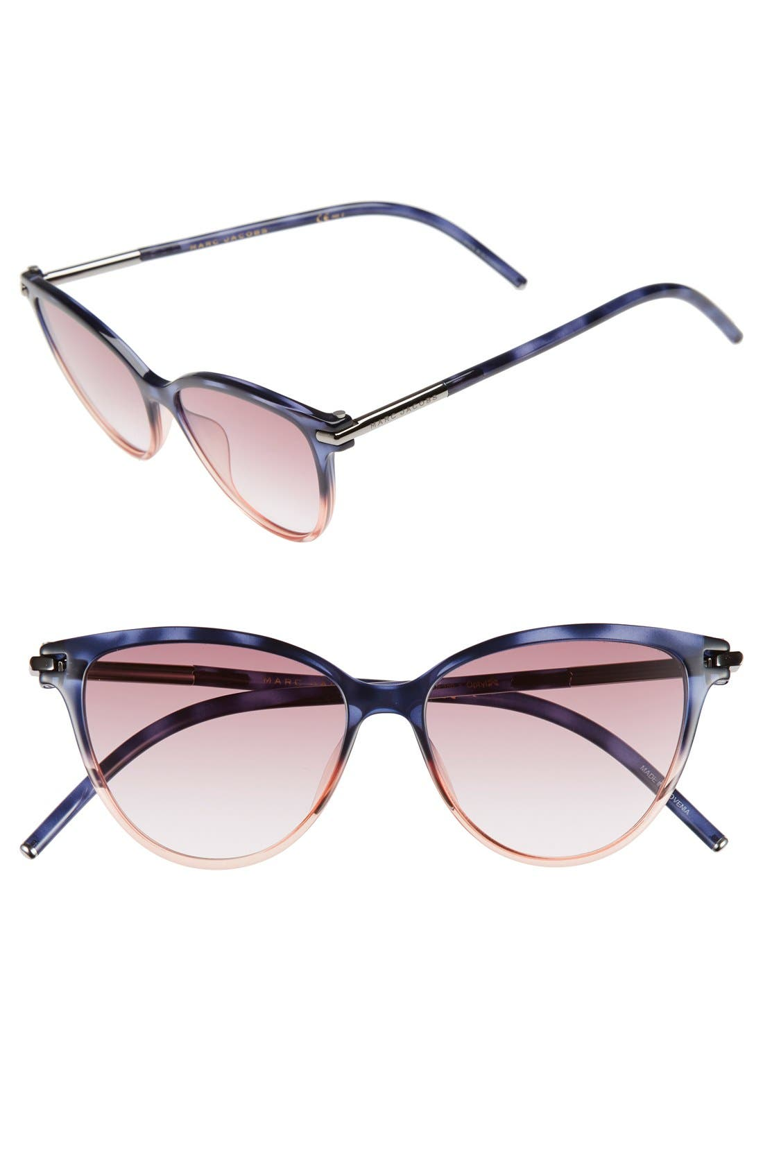 Alternate Image 1 Selected - MARC JACOBS 53mm Cat Eye Sunglasses
