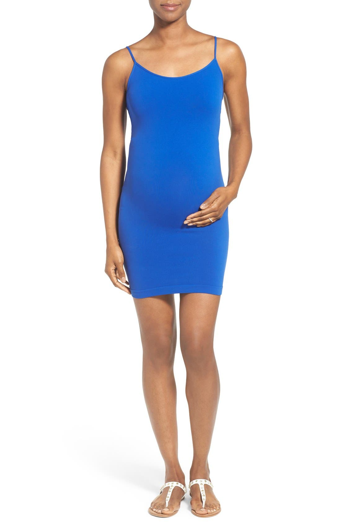 Cami Tunic Slip Maternity Dress,                         Main,                         color, Cobalt