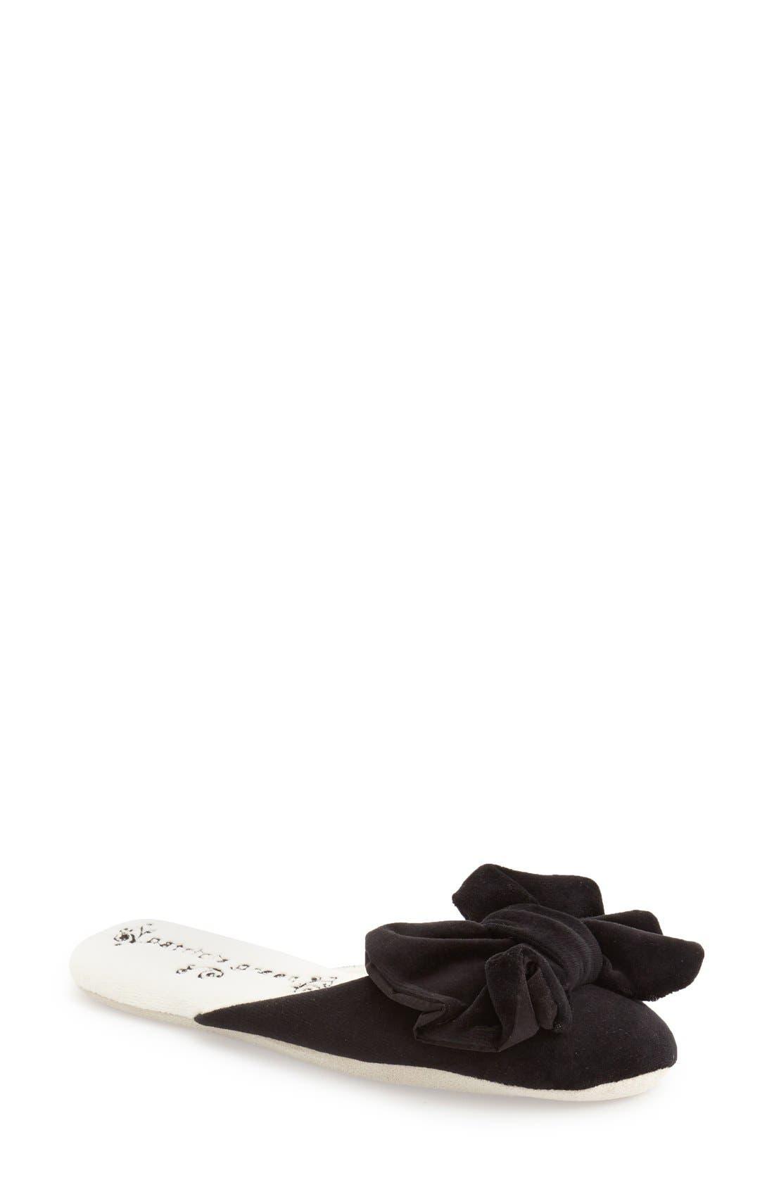 'Betty' Slipper,                         Main,                         color, Black Polyester