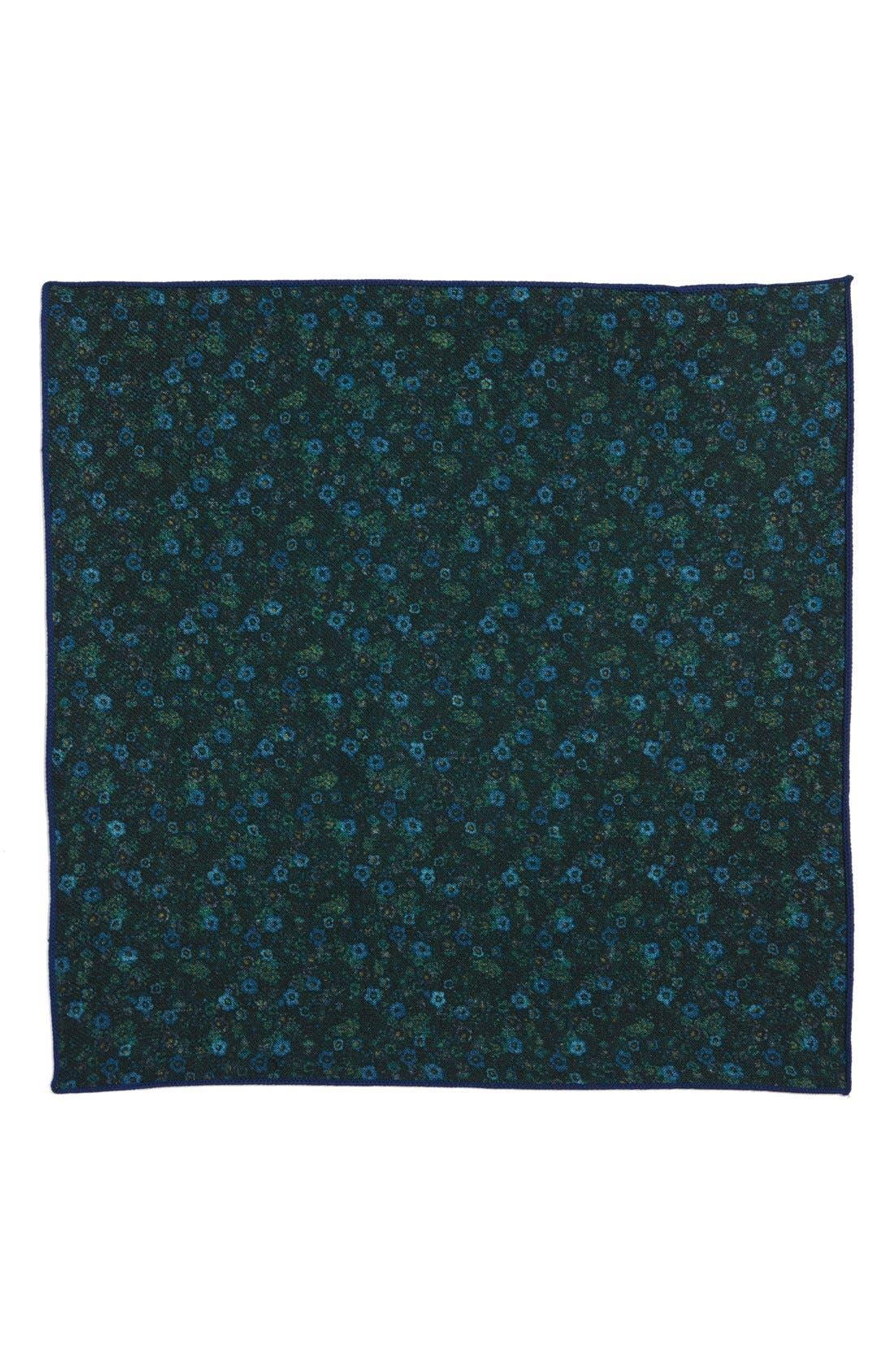 Alternate Image 2  - The Tie Bar Floral Wool Pocket Square