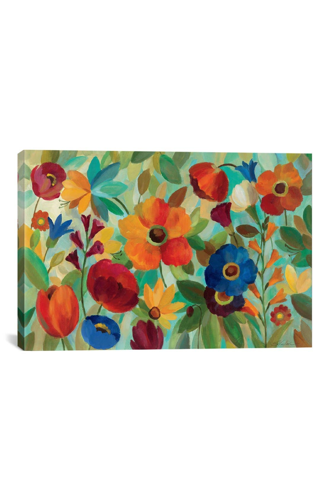 'Summer Floral' Giclée Print Canvas Art,                         Main,                         color, Green