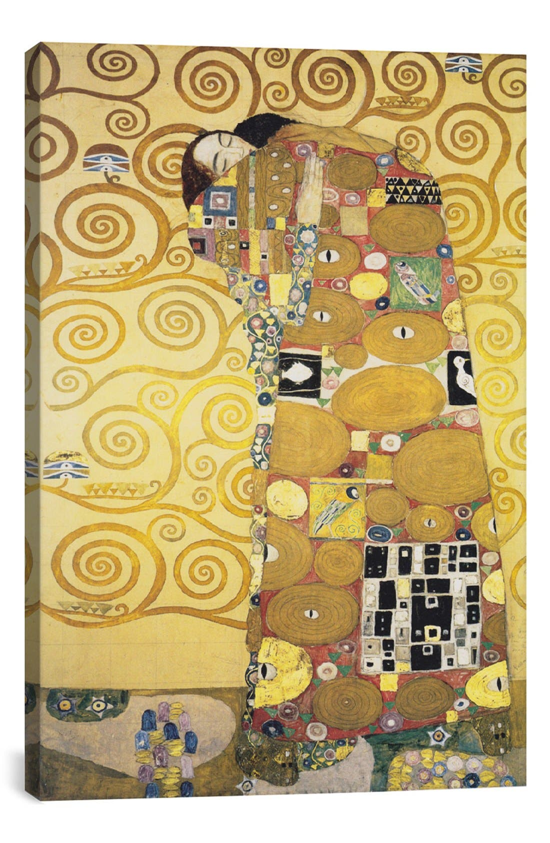 'Erfullung 1905 - Gustav Klimt' Giclée Print Canvas Art,                             Main thumbnail 1, color,                             Yellow