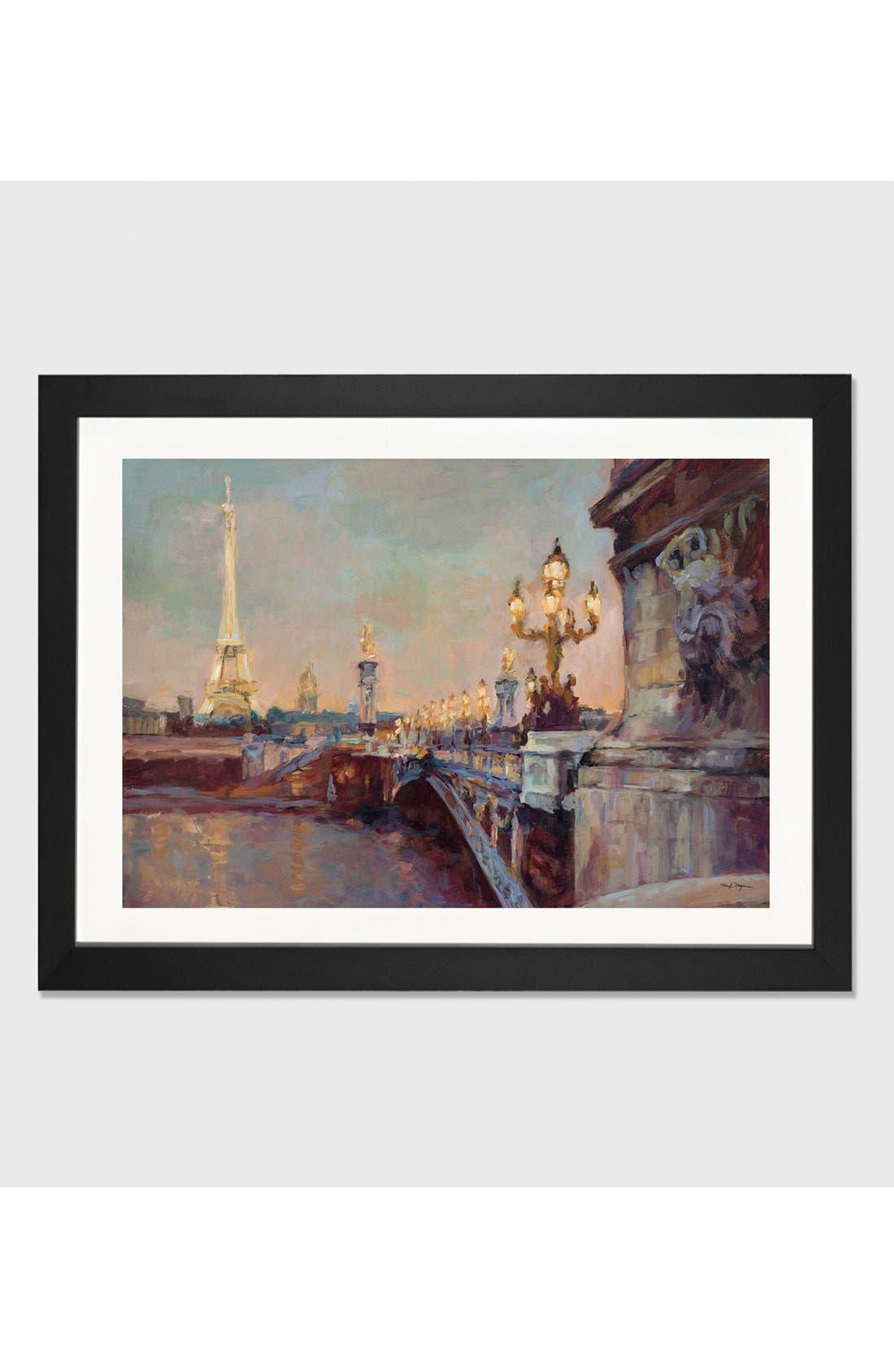 'Parisian Evening' Framed Fine Art Print,                             Main thumbnail 1, color,                             Black