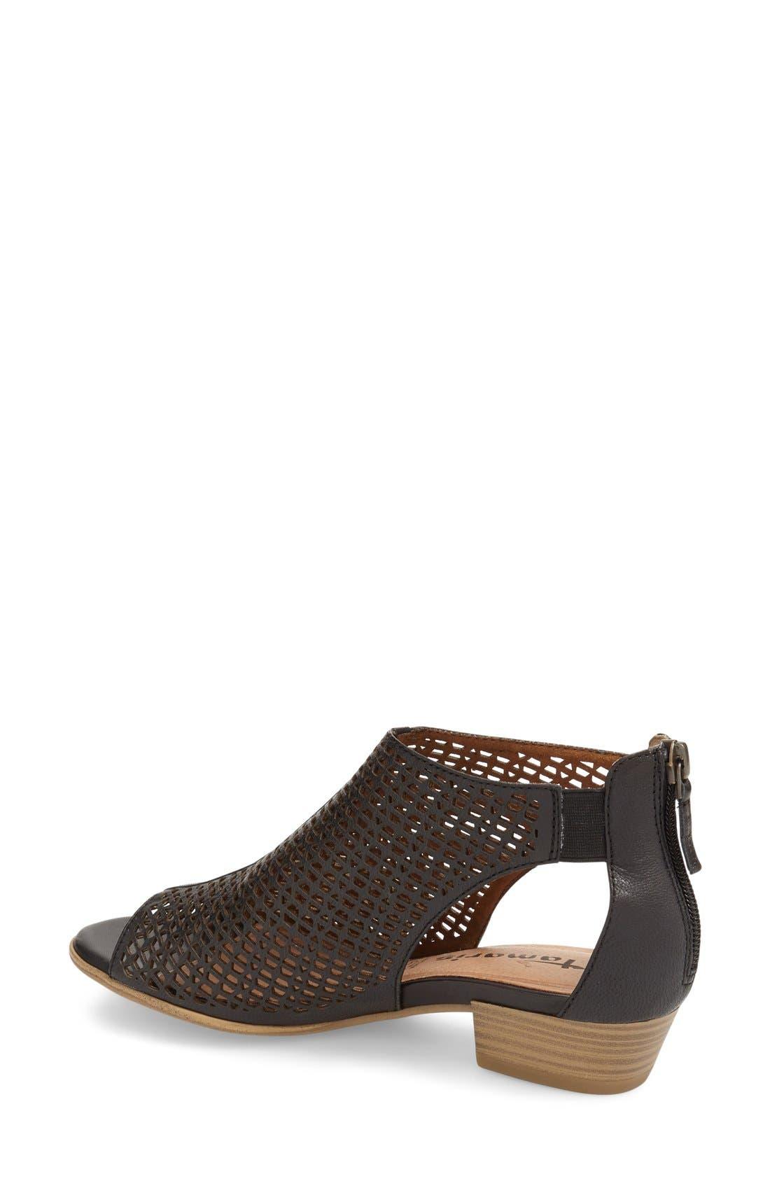 'Nao' Open Toe Sandal,                             Alternate thumbnail 2, color,                             Black Leather