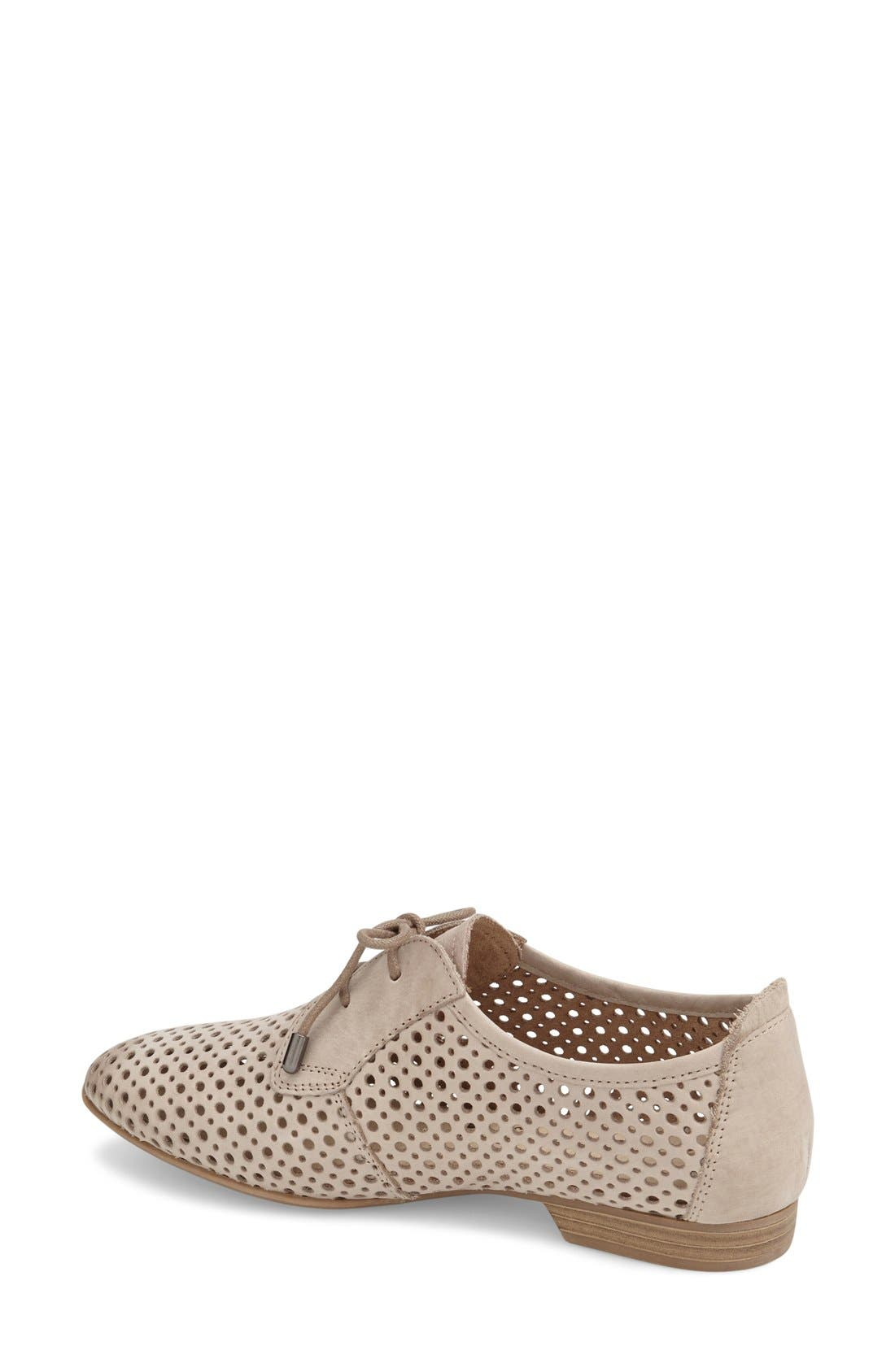'Drene' Perforated Oxford,                             Alternate thumbnail 2, color,                             Pepper Suede