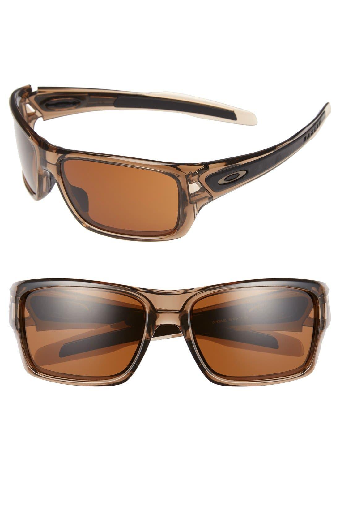 'Turbine<sup>™</sup>' 65mm Sunglasses,                         Main,                         color, Brown