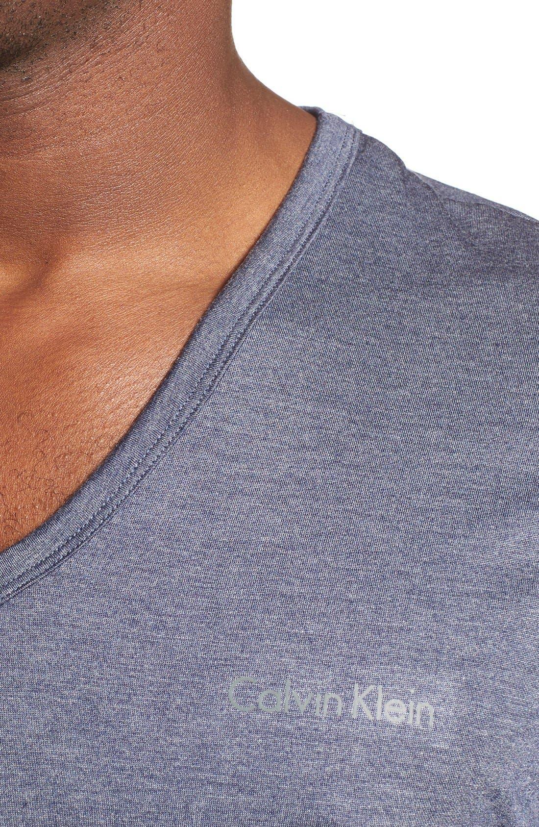 Alternate Image 4  - Calvin Klein 'Liquid Lounge' V-Neck T-Shirt