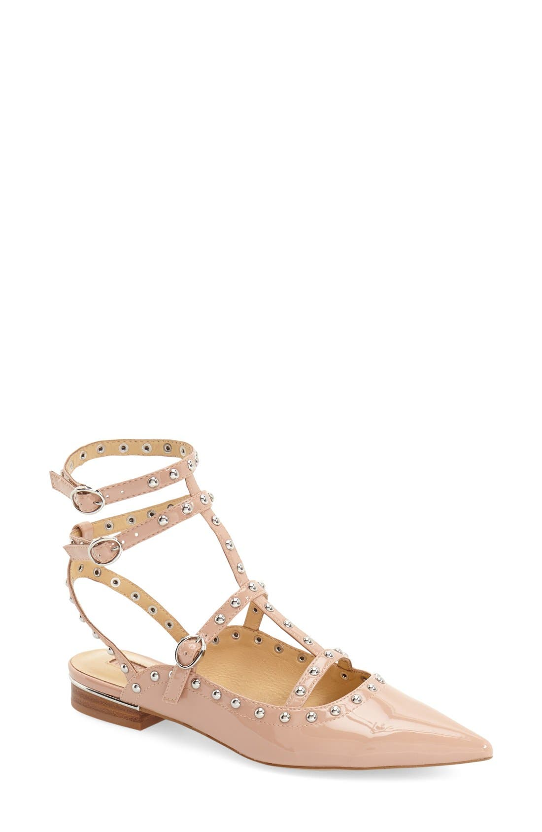 Alternate Image 1 Selected - Topshop 'Kate' Pointy Toe Flat (Women)