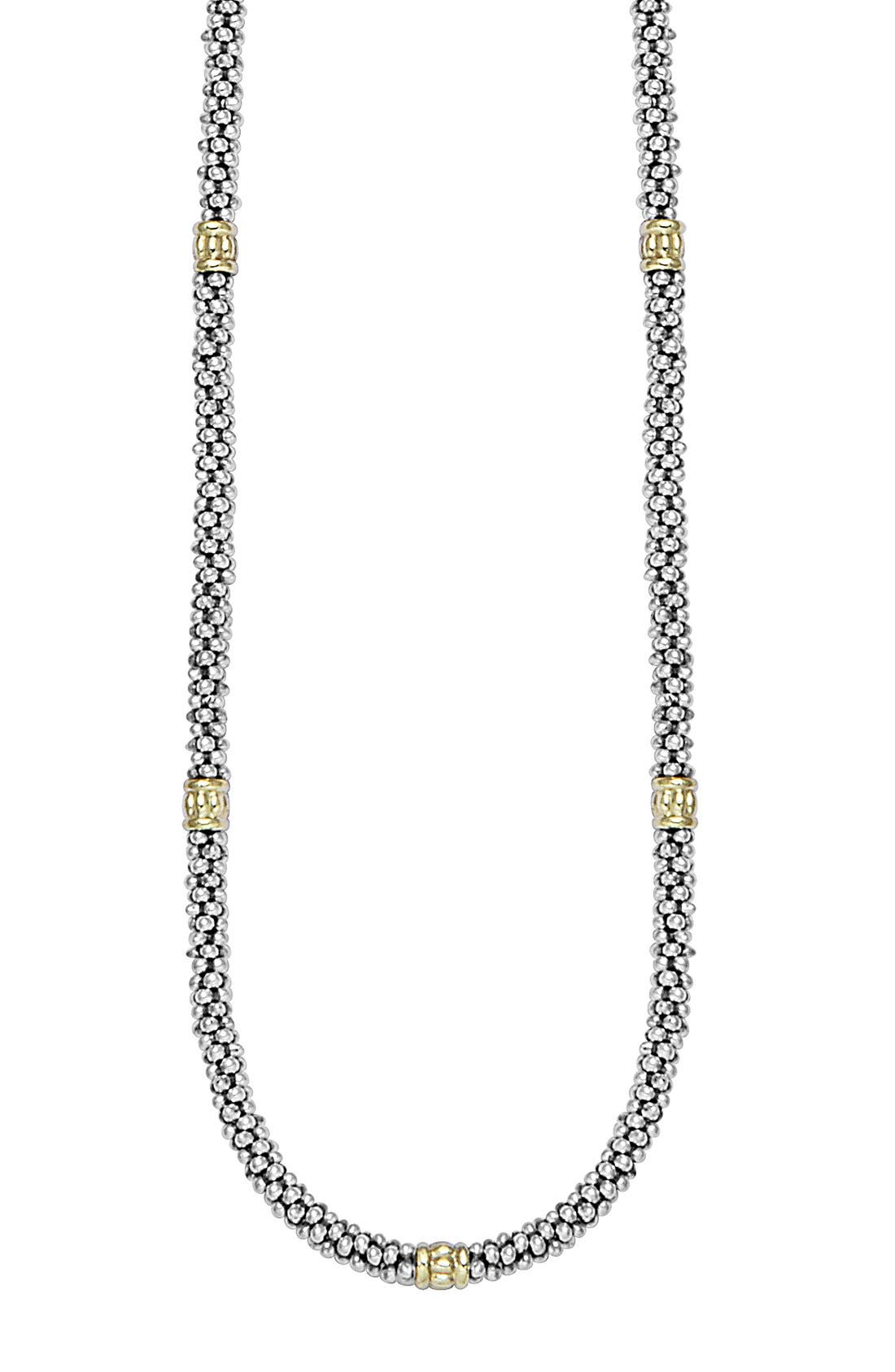 Caviar Rope Necklace,                             Alternate thumbnail 2, color,                             Silver/Gold