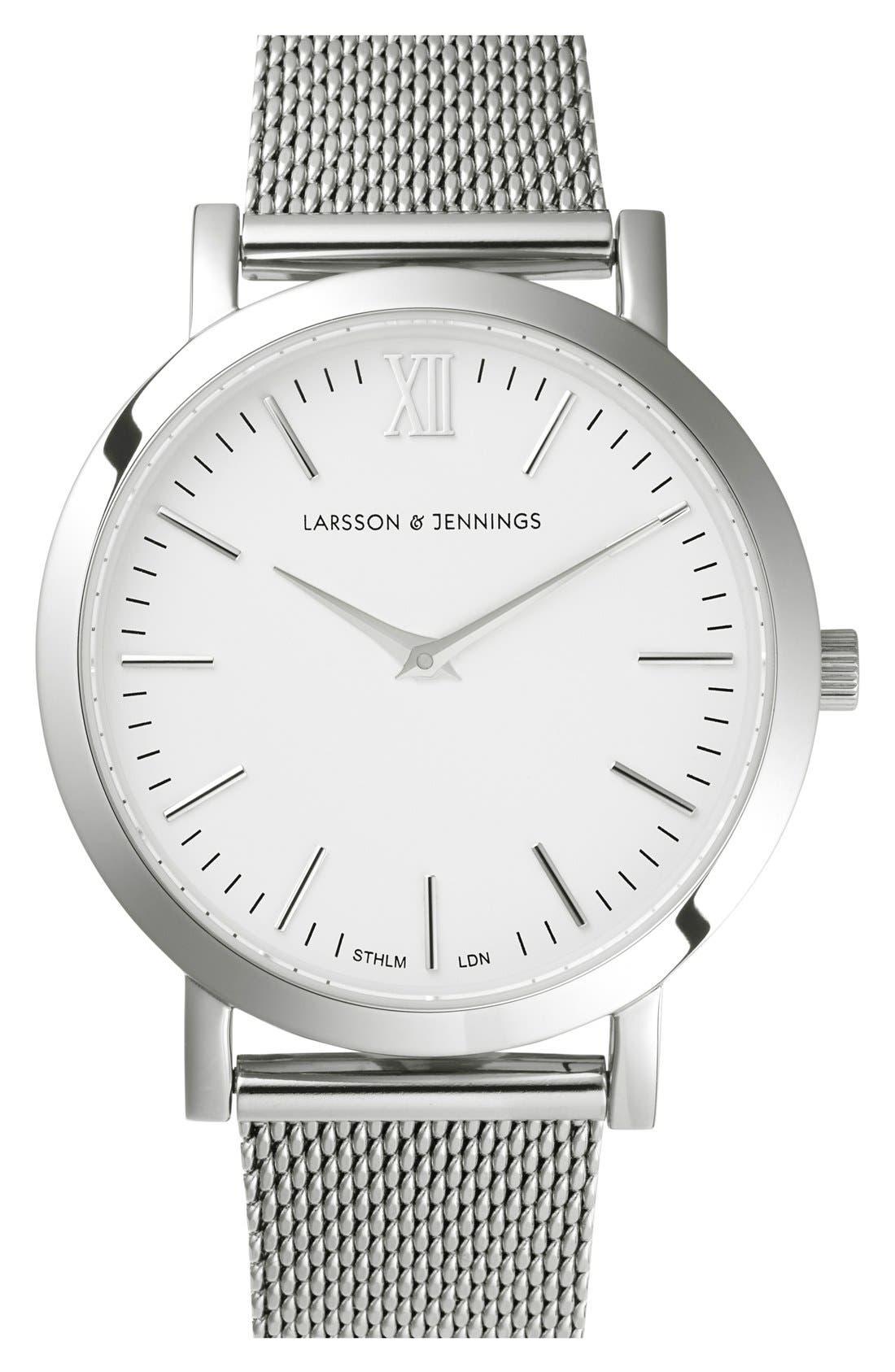 Alternate Image 1 Selected - Larsson & Jennings 'Lugano' Mesh Strap Watch, 33mm