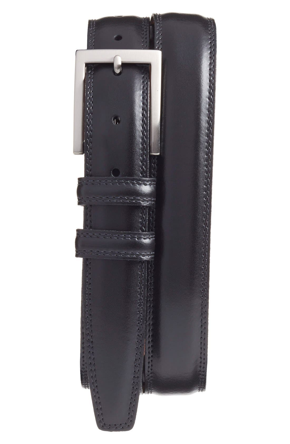Alternate Image 1 Selected - Torino Belts Aniline Leather Belt