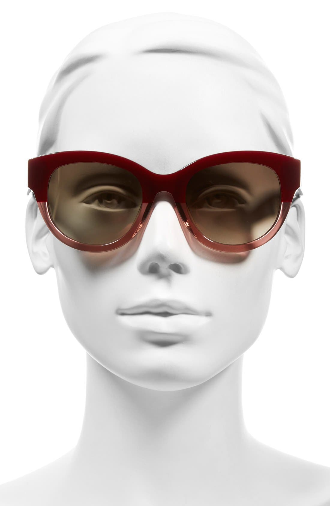 53mm Cat Eye Sunglasses,                             Alternate thumbnail 2, color,                             Bordeaux/ Antique Rose