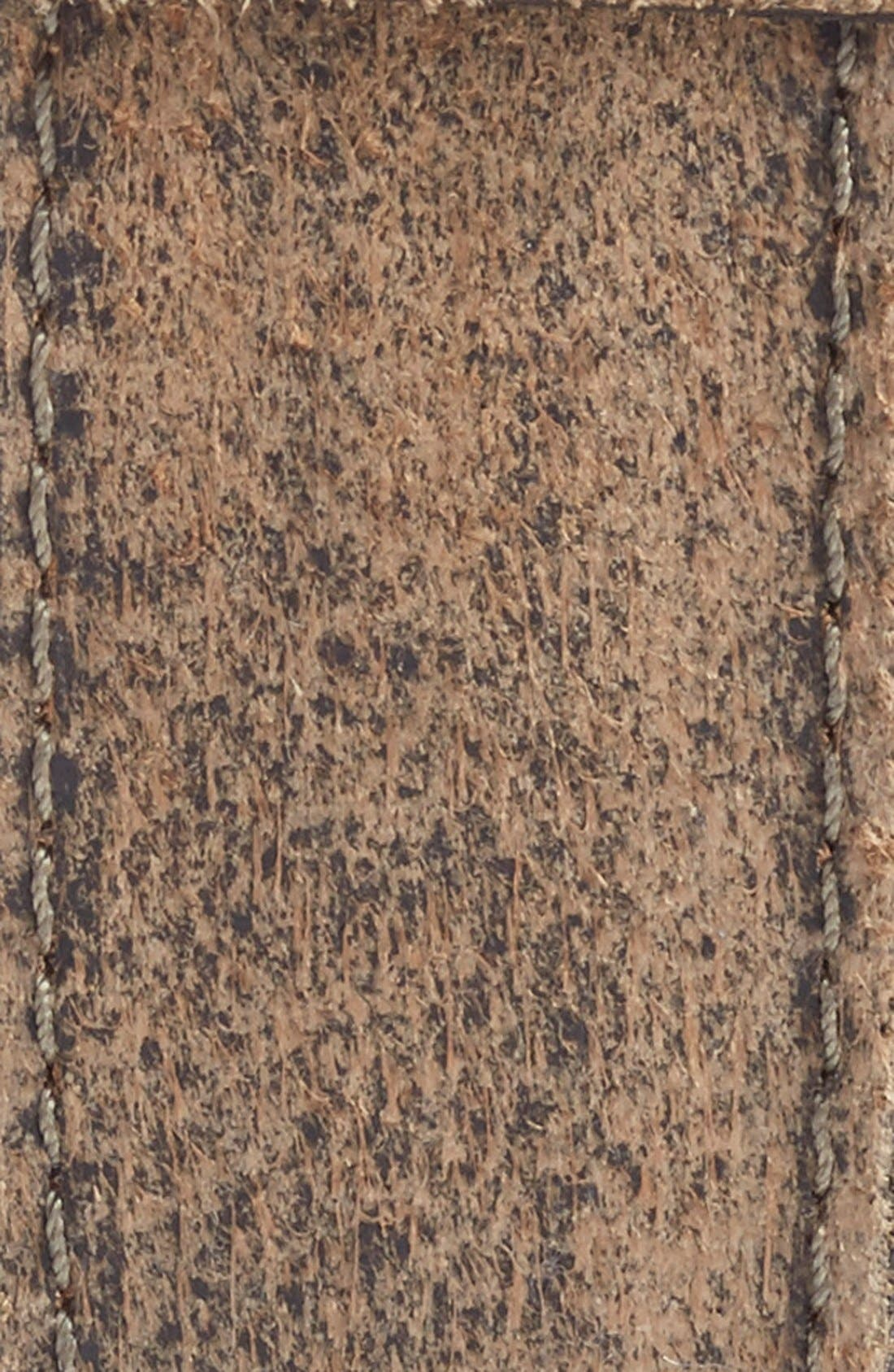 Sanded Leather Belt,                             Alternate thumbnail 2, color,                             Moss
