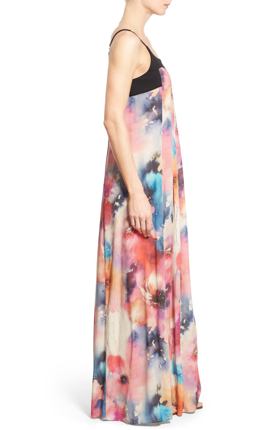 Alternate Image 3  - Matty M Print Sleeveless Pleat Maxi Dress