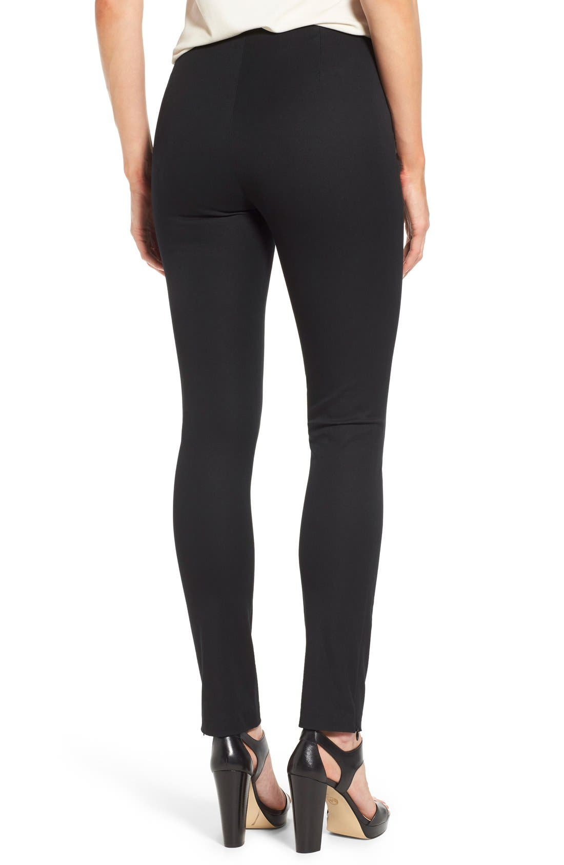 Alternate Image 2  - MICHAEL Michael Kors 'Hutton' Ankle Zip Slim Pintuck Pants (Petite)