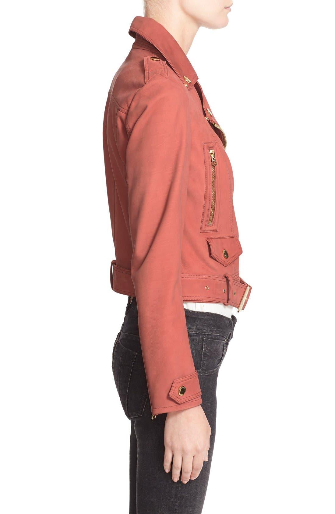 Alternate Image 5  - Burberry Brit 'Pattersby' Suede Moto Jacket