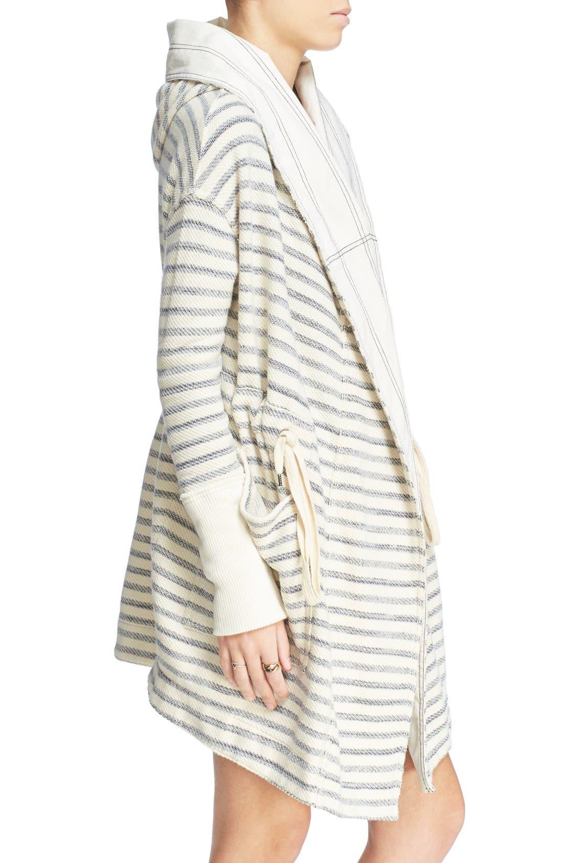 Alternate Image 3  - Free People 'Long Island' Stripe Hooded Cardigan