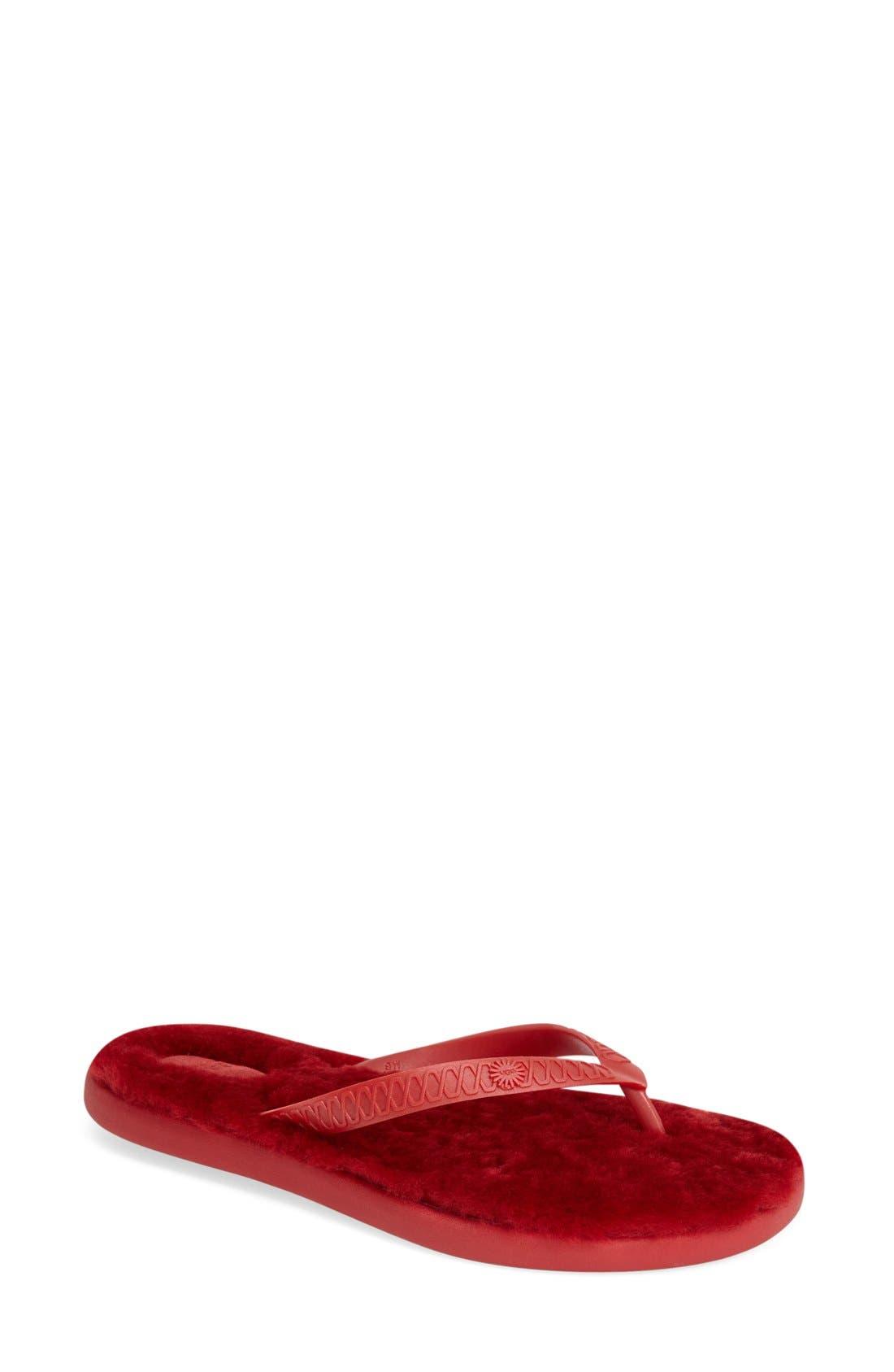 Alternate Image 1 Selected - UGG® 'Fluffie' Flip Flop (Women)