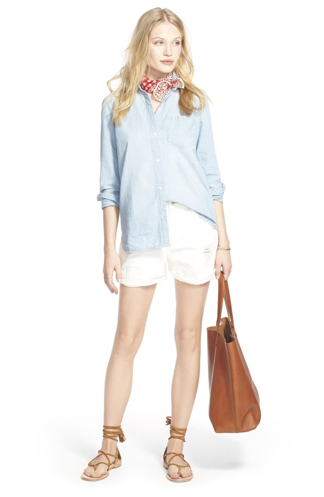 Alternate Image 5  - Madewell Ex-Boyfriend Chambray Shirt