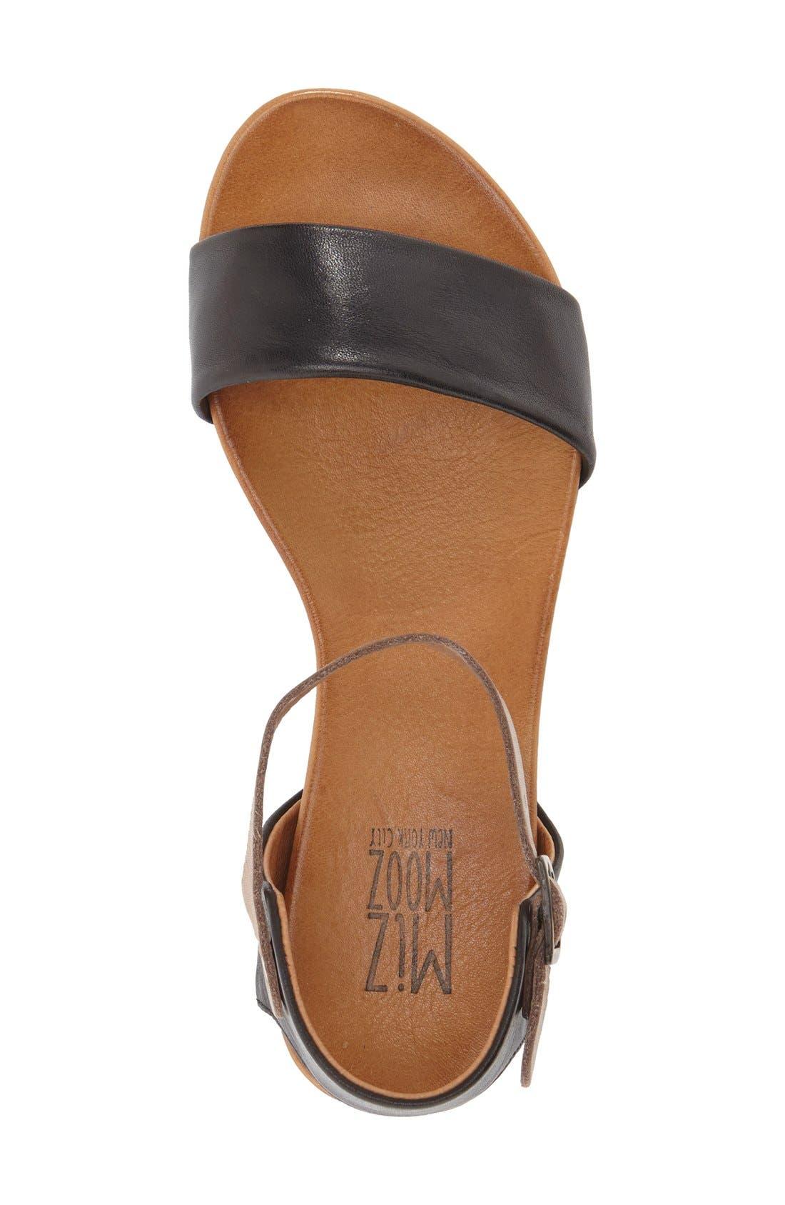 'Alanis' Sandal,                             Alternate thumbnail 3, color,                             Black Leather
