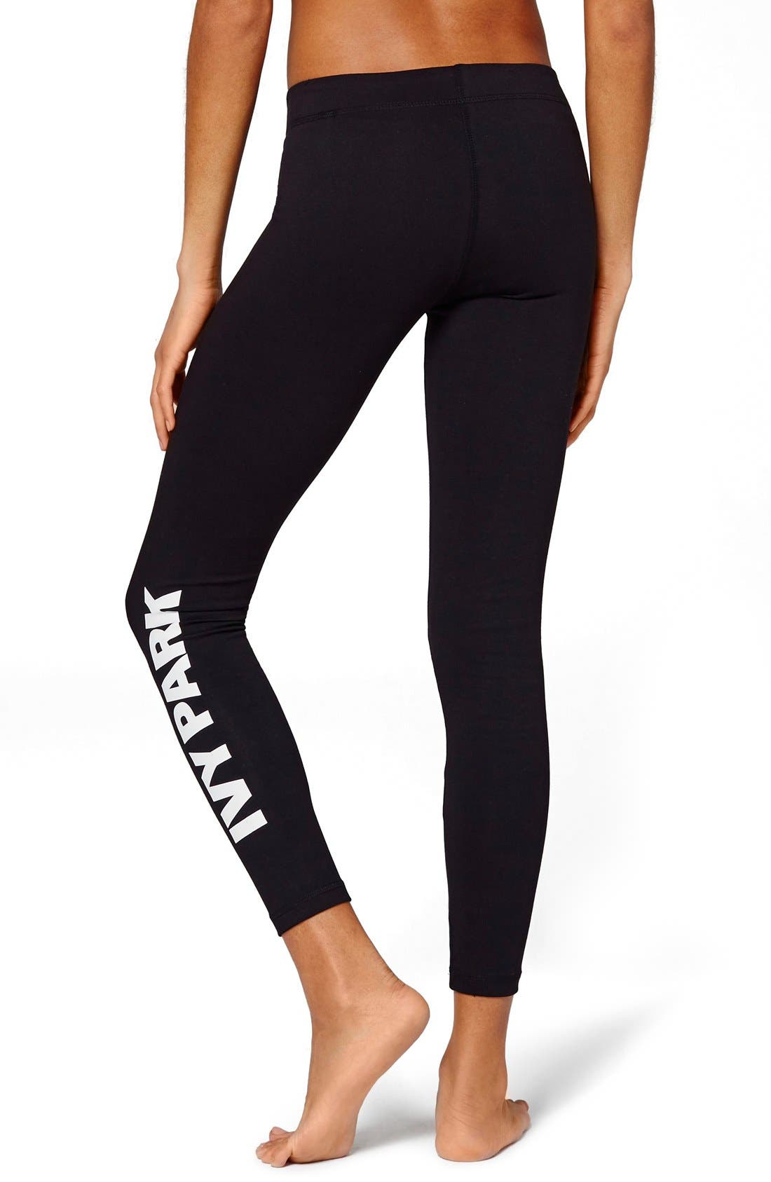 Alternate Image 3  - IVY PARK® Logo Mid Rise Ankle Leggings