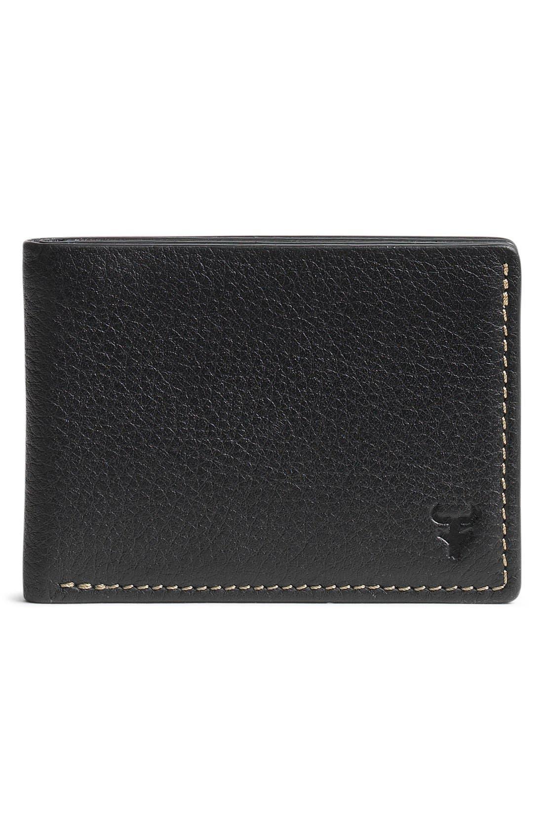 'Jackson' Super Slim Leather Wallet,                         Main,                         color, Black