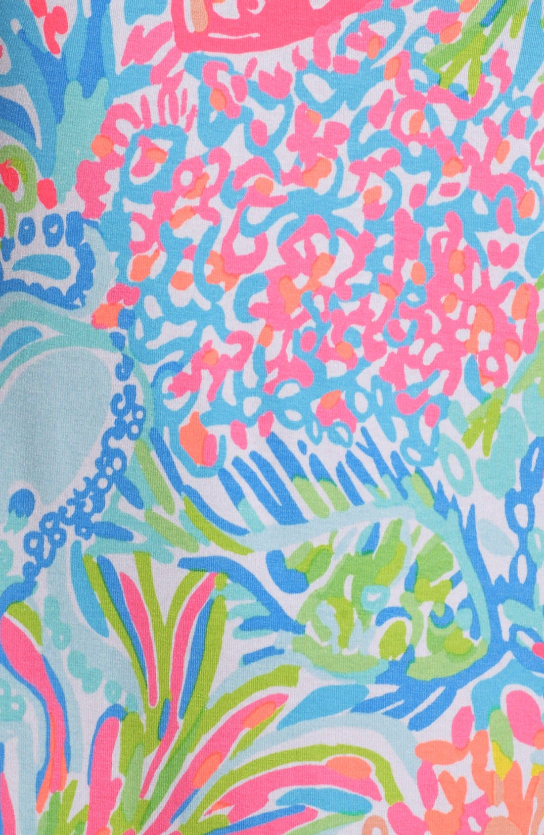 Alternate Image 6  - Lilly Pulitzer® 'Sophie' Print Jersey Shift Dress (UPF 50)